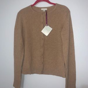 Cashmere Button Up Cardigan